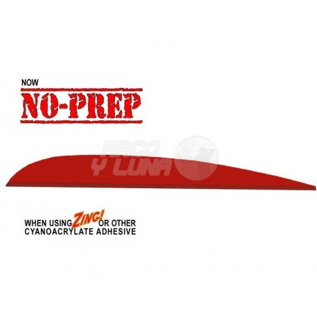 Plumas Flex-Fletch Vanes No Prep 418 Parabolic