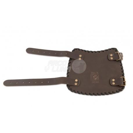 Protector de brazo Buck Trail Tribal Brown Oil Leather 17cm