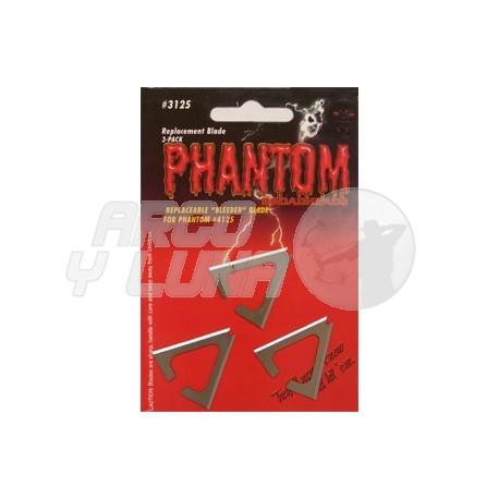 Cuchillas repuesto Muzzy Phantom pack 3