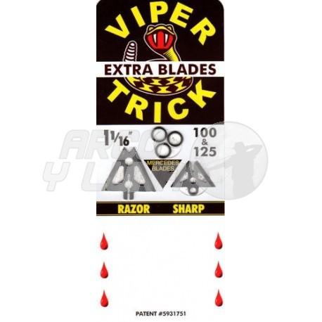 """Recambio cuchillas SLICK TRICK VIPERTRICK 1 1/16"""" 100/125 GR"""