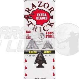 """Recambio cuchillas SLICK TRICK RAZORTRICK 1 1/8"""" 100/125 GR"""