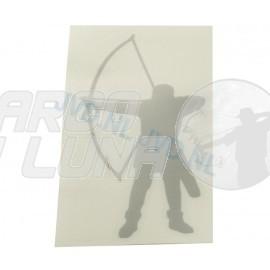 Pegatina arquero longbow