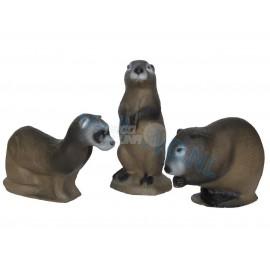 Dianas 3Di Family Pack Mink, Muskrat y Prairie Dog