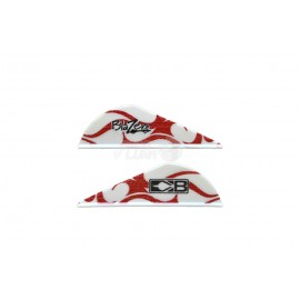 Plumas Bohning Blazer 2'' Red White Flame
