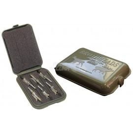 "Caja MTM puntas mecánicas 5.25"" x 3.75"" x 1.25"" Army Green"
